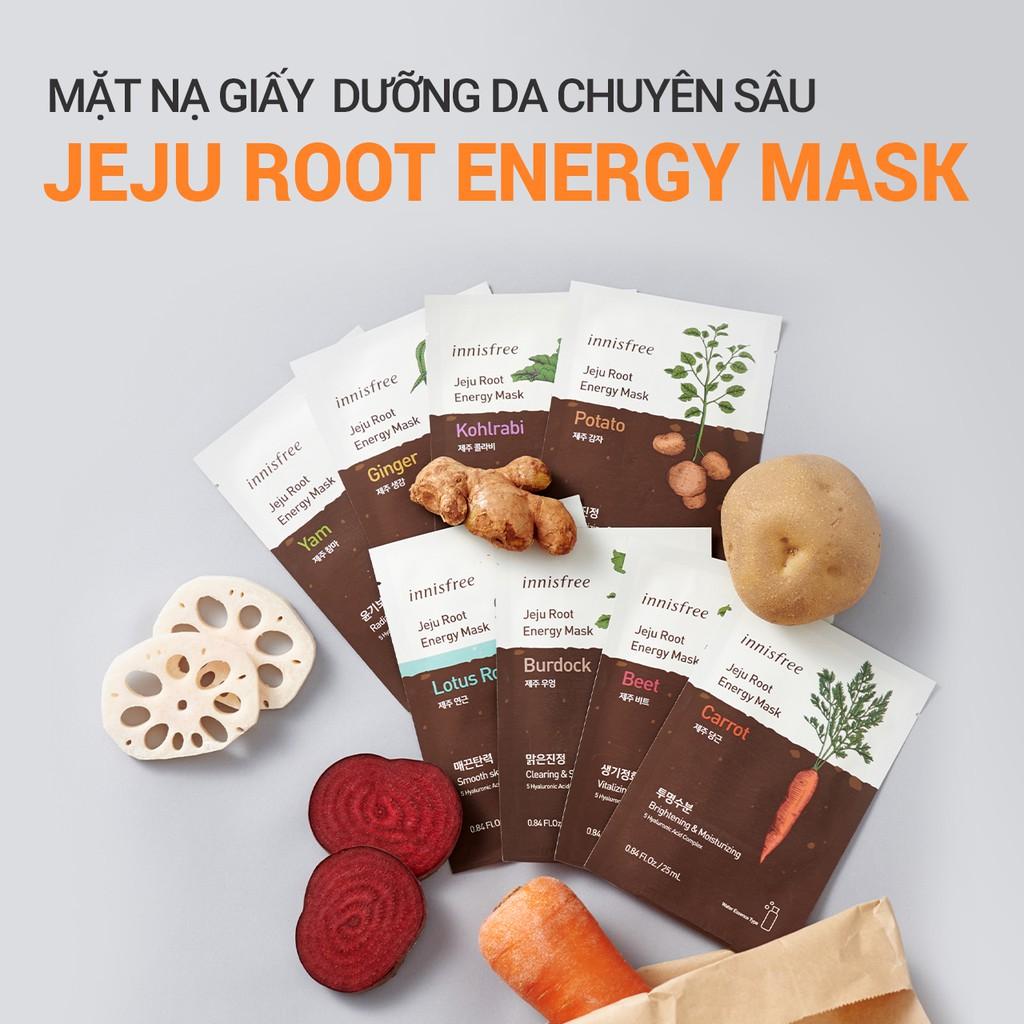Mặt nạ giấy chăm sóc da từ rau củ innisfree Jeju Root Energy Mask 25ml