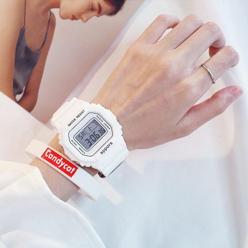(Giá sỉ) Đồng hồ thể thao Unisex C117 máy điện tử kiểu Hàn Quốc C117 dây cao su đèn ban đêm có báo thức, chống nước 3ATM