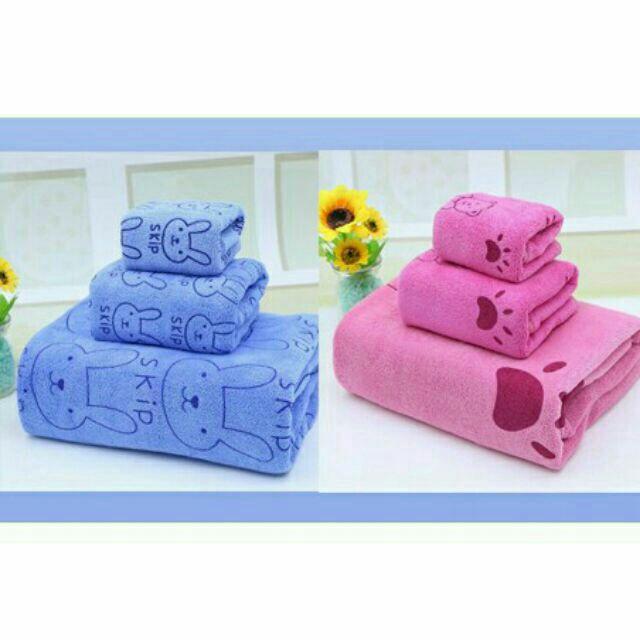 Sét 3 khăn tắm mặt gội 1m kiba thái lan - 22240515 , 2285623971 , 322_2285623971 , 60000 , Set-3-khan-tam-mat-goi-1m-kiba-thai-lan-322_2285623971 , shopee.vn , Sét 3 khăn tắm mặt gội 1m kiba thái lan