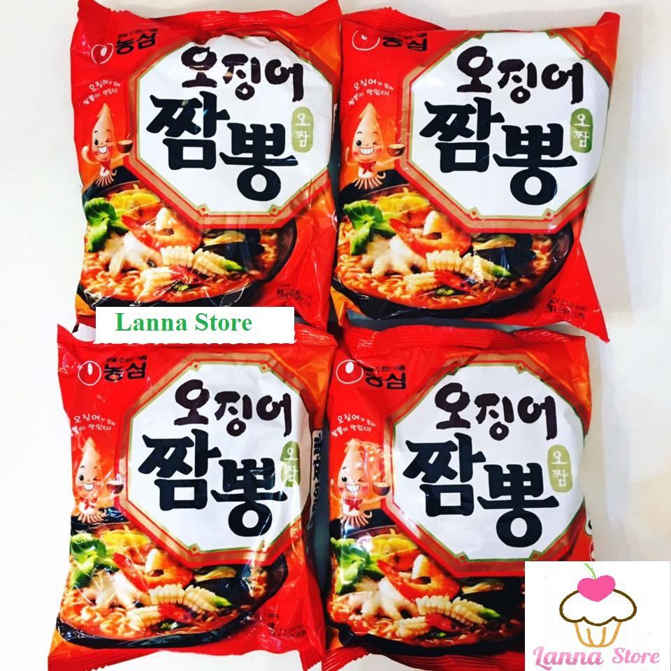 Combo 5 gói mì nước bạch tuộc NongShim Hàn Quốc