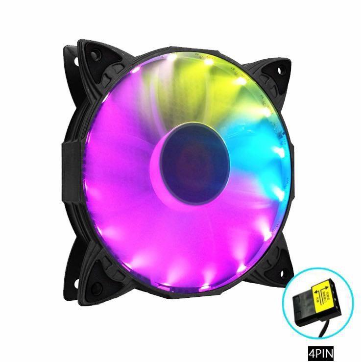 Quạt Tản Nhiệt, Fan Case Coolmoon M2 Led RGB - Không Cần Hub