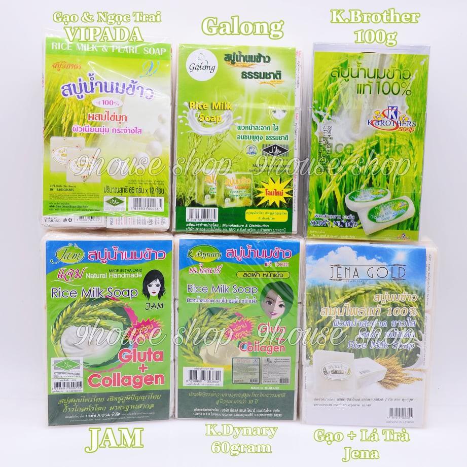 01 Cục Xà Bông Sữa Gạo (Da Mặt & Body) Thái Lan