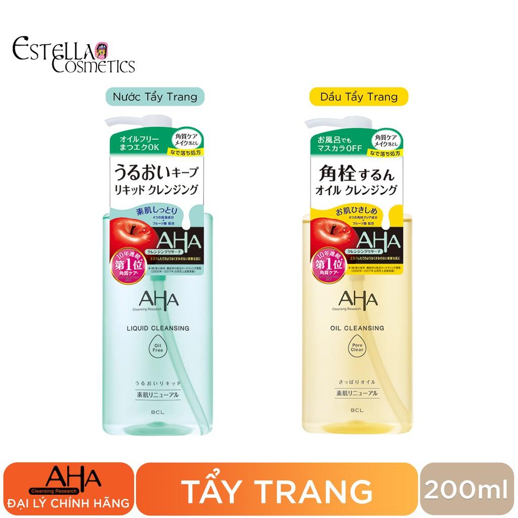 Tẩy Trang AHA Cleansing Research 200ml
