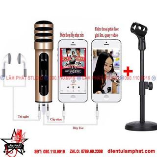 SALE Micro Karaoke Livestream Thu Âm C7 Âm Thanh Chuyên Nghiệp (2 Màu) + Tặng Tai Nghe thumbnail