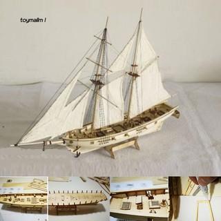 Mô hình thuyền buồm tỉ lệ 1 : 100 tự lắp ráp