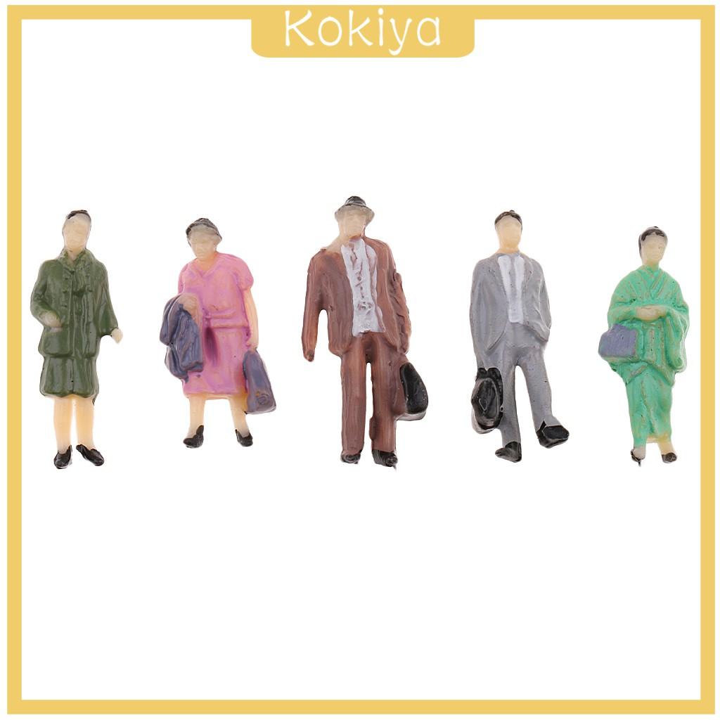 [KOKIYA] 50pcs 1:87 Miniature Human Figures People Model Railroad Scenery HO OO