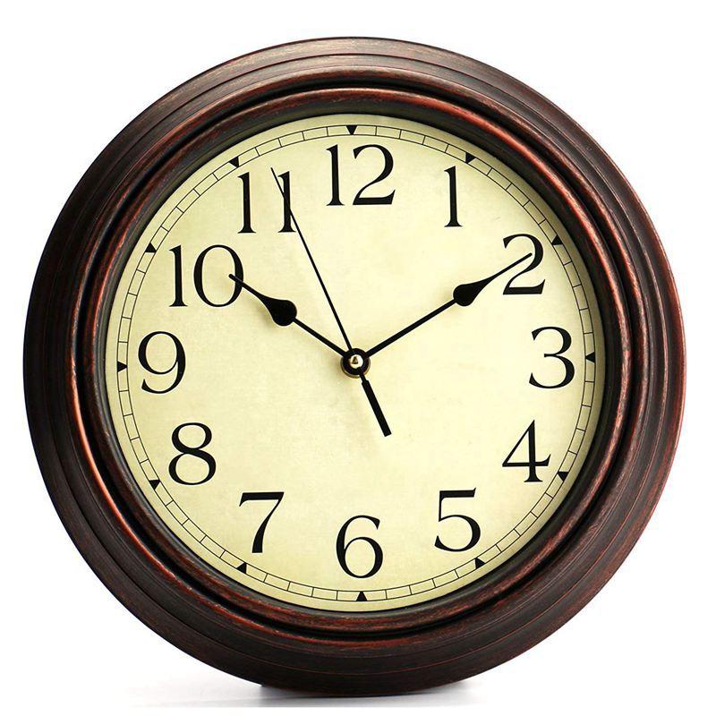 Đồng hồ treo tường trang trí hình tròn phong cách retro