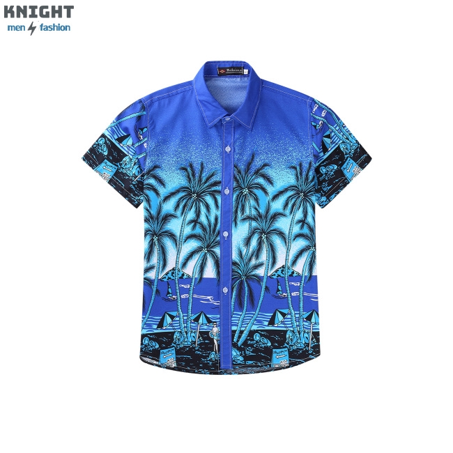 [Mã FSS09JAN hoàn 20% XU đơn từ 0đ]Unisex Lovers Beach Shirt Hawaiian Scenery Casual Couple Tops