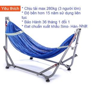 Combo Khung võng xếp Ngọc Hoàng + lưới võng DTX rộng 50cm