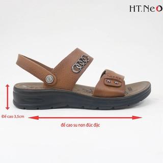 Sandal da bò-dép nam cao cấp HT.NEO siêu êm ái,siêu thoải mái, siêu mềm chân khâu may chân quai siêu chắc chắn, SD55 thumbnail