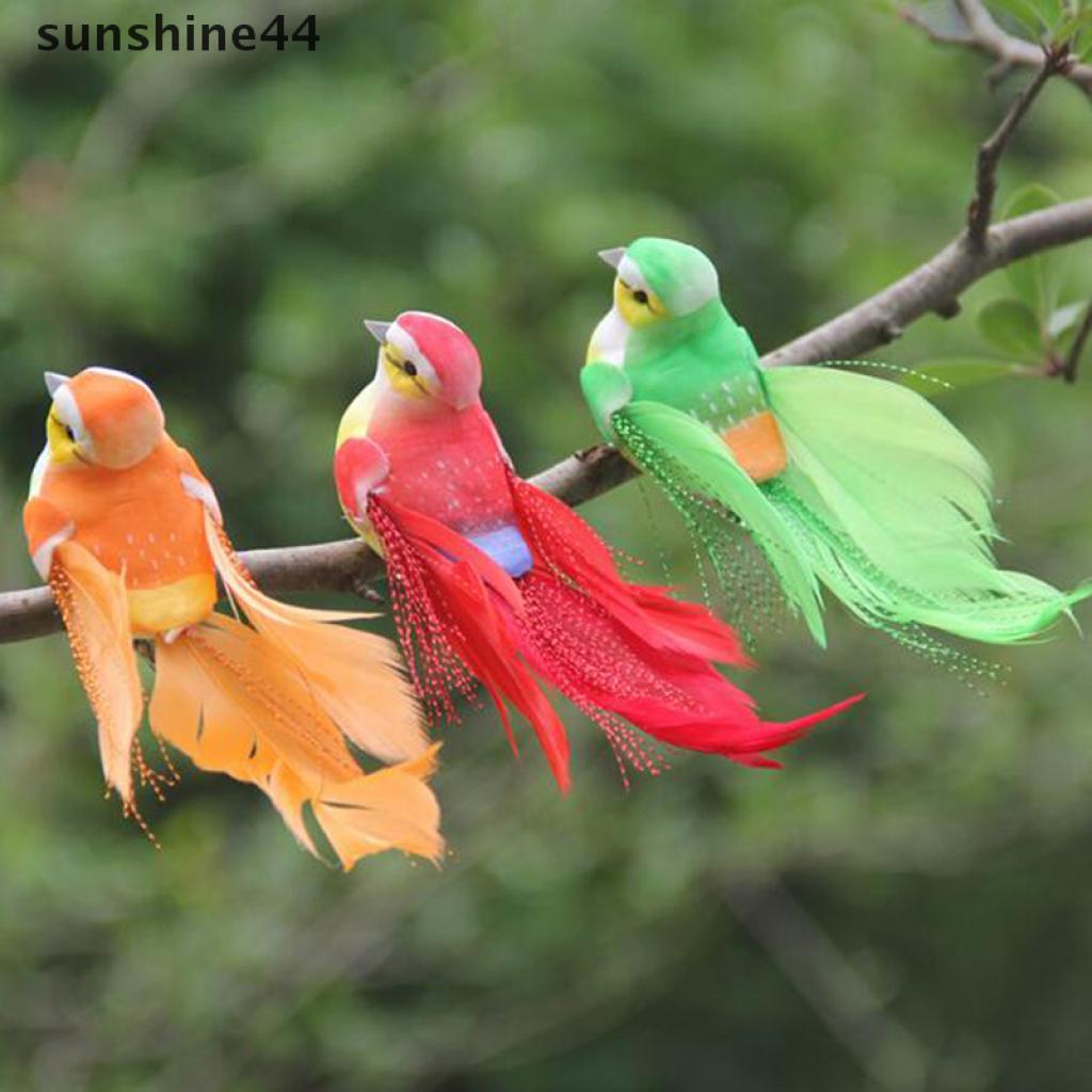 sunshine44 1Pc mini artificial foam feather bird wedding decorative doves bird home decor .