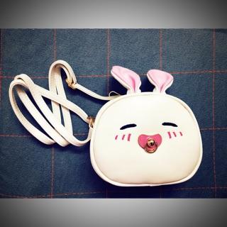 Backpack for babie girls: white rabbit
