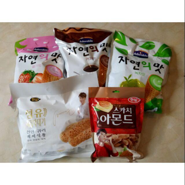 Compo 5 gói bánh kẹo Hàn Quốc (3 ốc quế +1 yến mạch +1 keo hanh nhân) - 3418280 , 786809434 , 322_786809434 , 220000 , Compo-5-goi-banh-keo-Han-Quoc-3-oc-que-1-yen-mach-1-keo-hanh-nhan-322_786809434 , shopee.vn , Compo 5 gói bánh kẹo Hàn Quốc (3 ốc quế +1 yến mạch +1 keo hanh nhân)