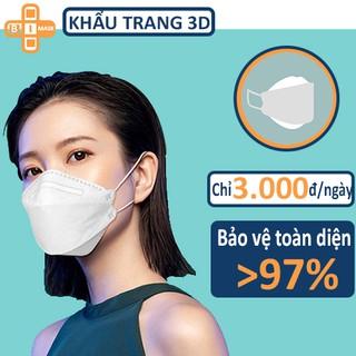 Khẩu trang y tê 4 lớp chống bụi 3D Mask thoáng khí, chống bụi mịn, thiết kế ba chiều, có thể tái sử dụng 2-3 lần thumbnail