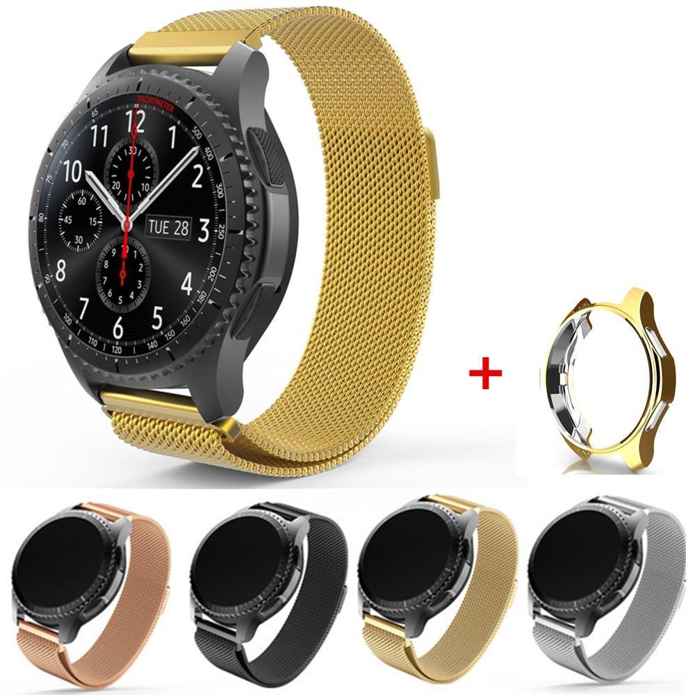 Xumu For Samsung Galaxy Watch 46mm 42mm Gear S3 Metal Watch Band Strap Soft Plating Case
