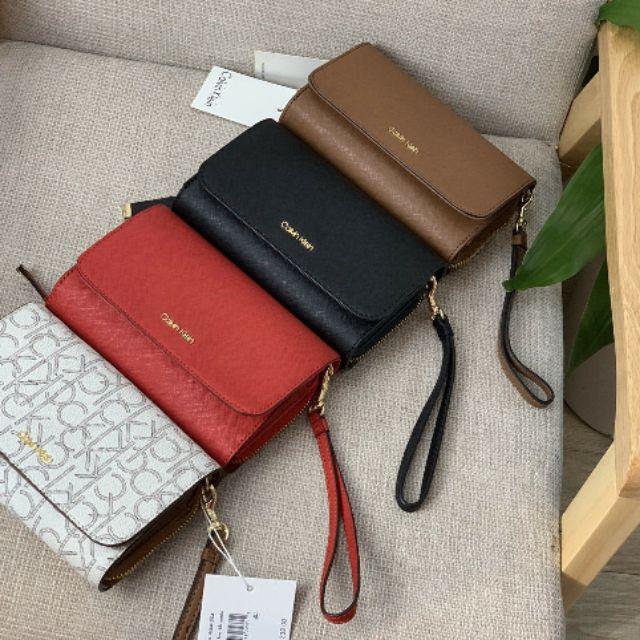 Hàng y hình 🔔 Túi đeo chéo kiêm ví cầm tay nữ Calvin Klein