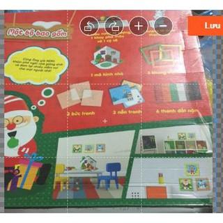 Bộ đồ chơi tô màu và xếp hình Giáng Sinh KIBU (hàng Việt Nam)