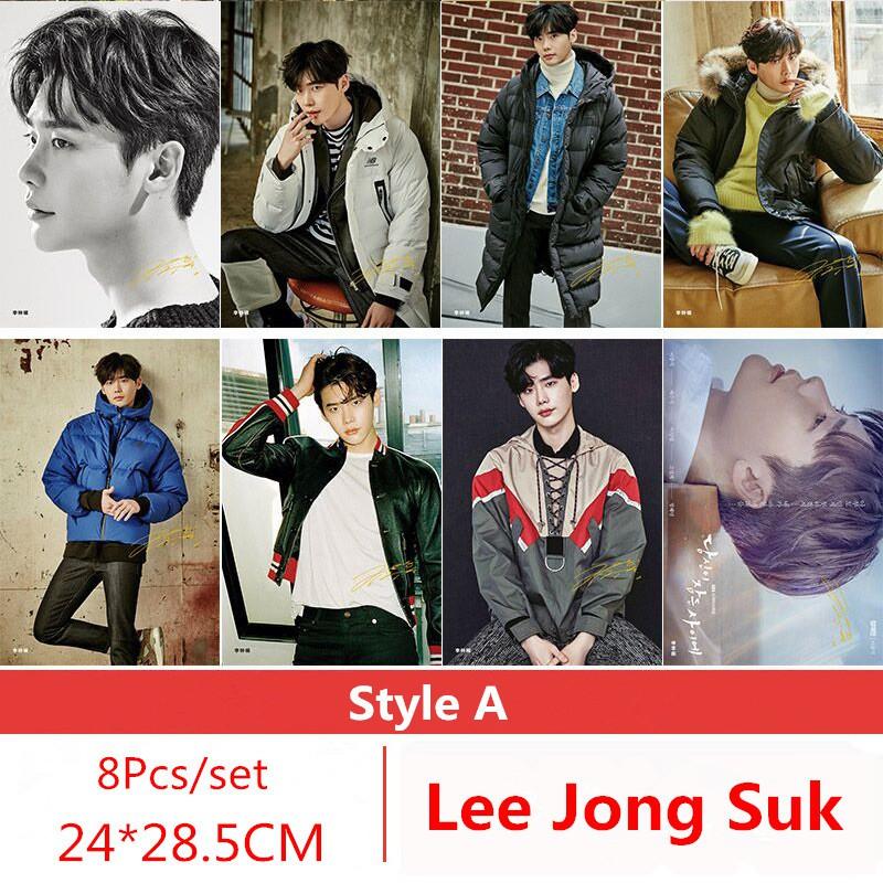 Set 8 tấm poster hình nam diễn viên lee jong suk , kích thư