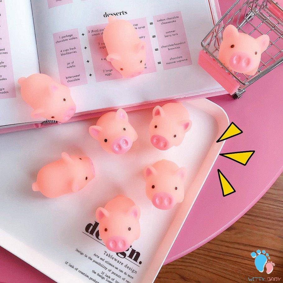 Đồ chơi bóp đàn hồi hình chú lợn giúp giảm căng thẳng xinh xắn