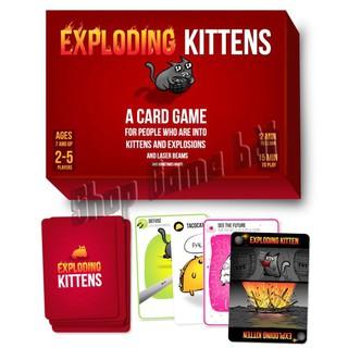 ComBo sỉ 10 Bộ mèo Mèo Nổ cơ bản Exploding Kittens phổ biến mèo đỏ