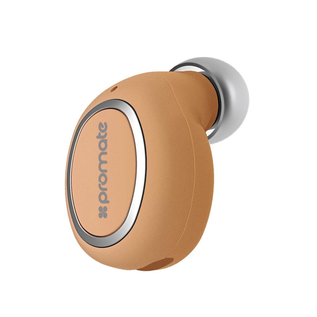 Tai nghe Mono Bluetooth Promate Halo-2 trọng lượng nhẹ (Vàng đồng)
