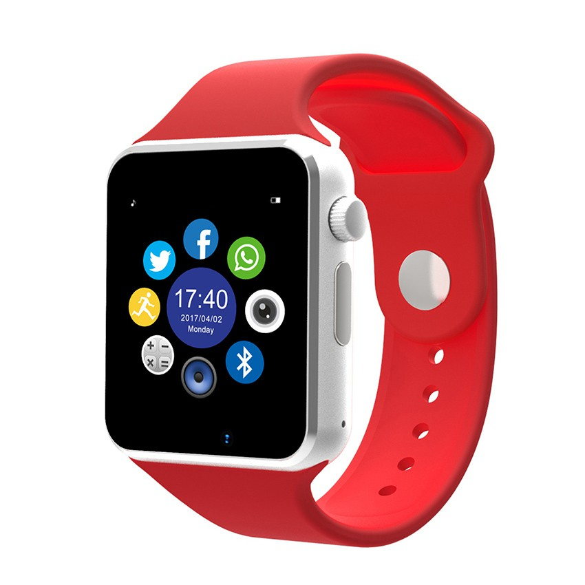 Đồng hồ thông minh W08 nghe gọi , gắn sim nghe nhạc như điện thoại màu đỏ