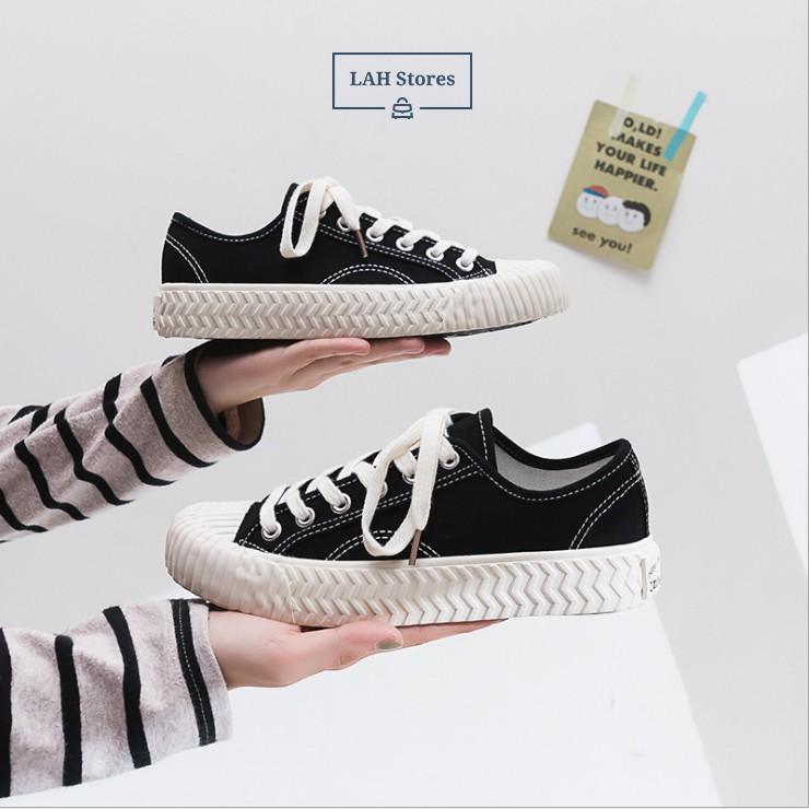 Giày thể thao ulzzang sneaker canvas nữ. Phong cách HongKong 1970 siêu cá tính LAH STORES GCCNU02
