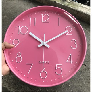 [Giá Sốc] Đồng hồ treo tường màu Hồng dễ thương cho bé
