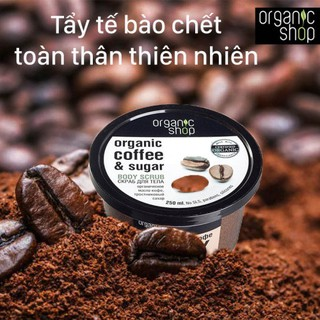 Hình ảnh Tẩy Tế Bào Chết Toàn Thân Organic Shop Organic Coffee & Sugar Body Scrub 250ml (Hương Cafe)-1