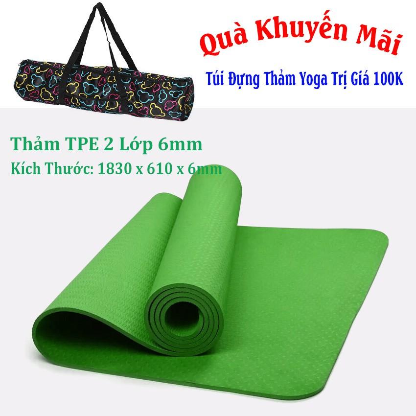 [Free Ship] Thảm Yoga 1 Lớp TPE + Túi Đựng Thảm (Xanh Lá) - 2782645 , 1060489326 , 322_1060489326 , 334000 , Free-Ship-Tham-Yoga-1-Lop-TPE-Tui-Dung-Tham-Xanh-La-322_1060489326 , shopee.vn , [Free Ship] Thảm Yoga 1 Lớp TPE + Túi Đựng Thảm (Xanh Lá)