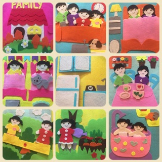 Sách vải handmade chủ đề gia đình ( hình thật)