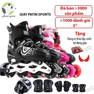 Giày patin trượt Sport cao cấp dành cho trẻ em người lớn có thể điều chỉnh to nhỏ c