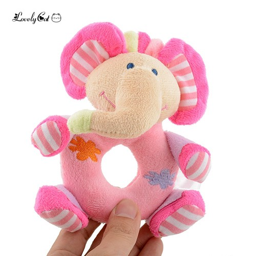 Baby Kids Gifts Cute Soft Pink Rattle Eduional Toys