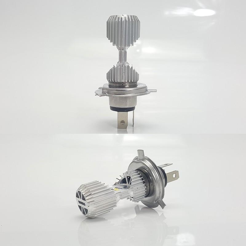 Bóng đèn led 3 chân H4/L9E H4 gắn xe máy ( sáng trắng)