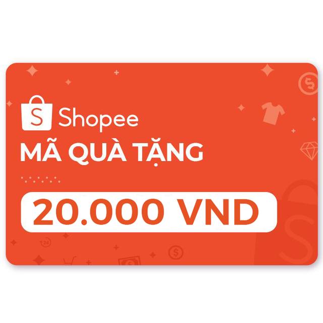 Toàn quốc [E-Voucher] Mã Quà Tặng Shopee Trị Giá 20.000đ