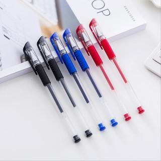 Bút mực gel ngòi 0.5mm 3 màu sắc tùy chọn thay đổi được ruột bút/ngòi bút tiện lợi