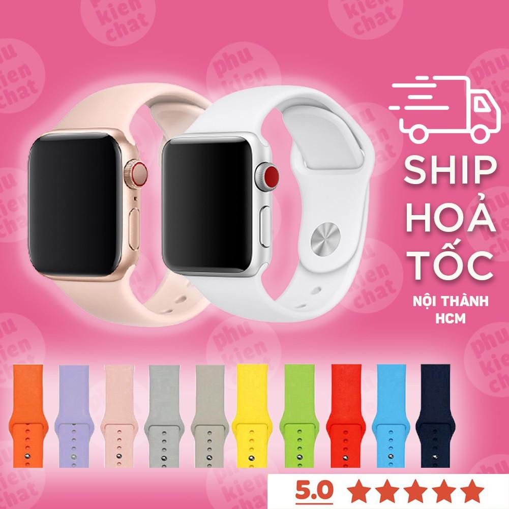 Dây Apple Watch cao su chống bẩn siêu mềm cho đồng hồ thông minh Series 1/2/3/4/5/6 T500, WATCH 6, W26, W46, U78Plus