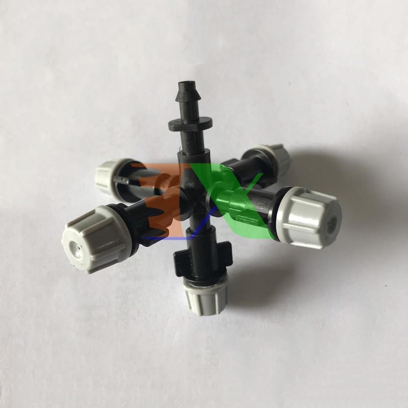 Bộ 5 đầu tưới Phun sương 40Lit/h Đầu phun sương Tưới cây làm mát + khởi thủy 4/7mm