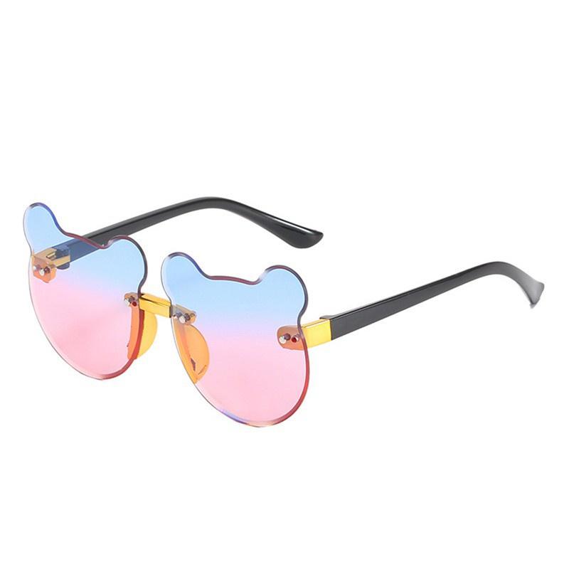 elina New Children's Sunglasses Baby Cute Bear Sunglasses Cartoon Anti-Ultra Violet Polarizing Glasses Boys and Girls Fashion Sunglasses