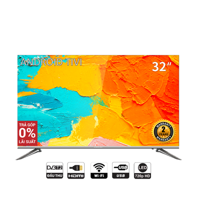 Smart TV HD Coocaa 32 inch Wifi - Tràn viền - Model 32S5C (Bạc)