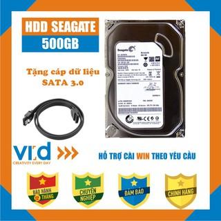 Ổ cứng HDD 500GB Seagate -Tặng cáp SATA 3.0 -  Hàng tháo máy đồng bộ nhập khẩu mới 98% -  Bảo hành 12T