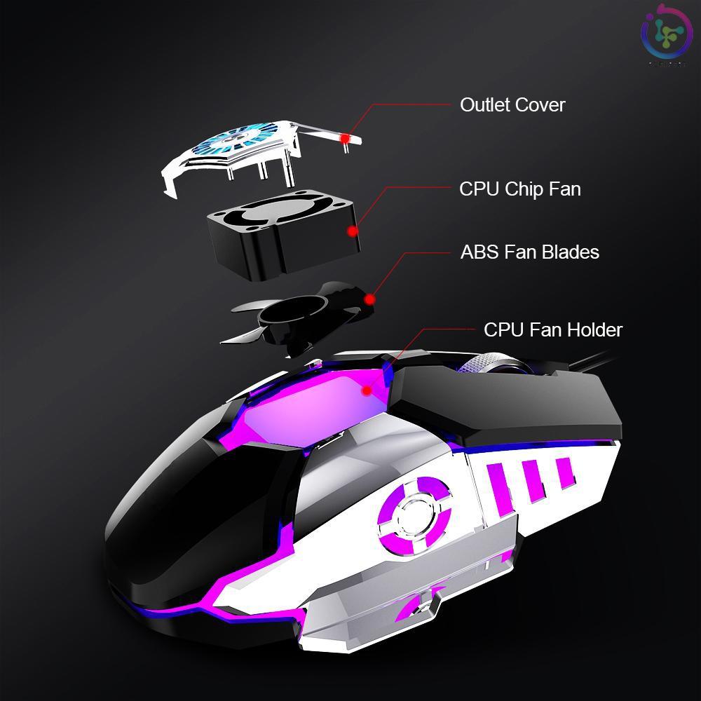 Quạt Tản Nhiệt Có Dây G22 6400dpi Rgb Cho Game Thủ