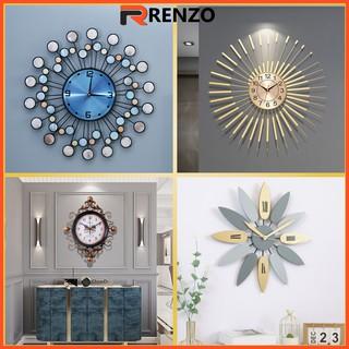 Đồng hồ trang trí treo tường cao cấp độc lạ trang trí decor RENZO DH05
