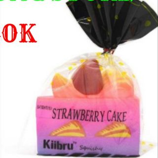 SQUISHY JUMBO STRAWBERRY CAKE HÃNG KIIBRU
