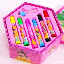 Hộp bút chì màu an toàn tập tô cho bé mới sinh hình lục giác 4 tầng gấp gọn (46 món tập tô) cao cấp Tất trẻ em