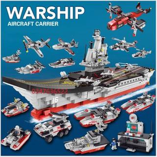 [1265 CHI TIẾT-HÀNG CHUẨN] BỘ ĐỒ CHƠI XẾP HÌNH LEGO CHIẾN HẠM, LEGO OTO, LEGO ROBOT, LEGO TÀU THUYỀN, LEGO CITY thumbnail