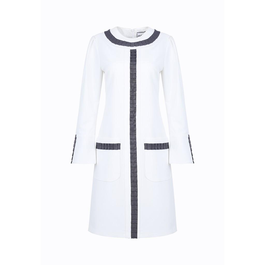 Đầm trắng túi vuông suông ribbon