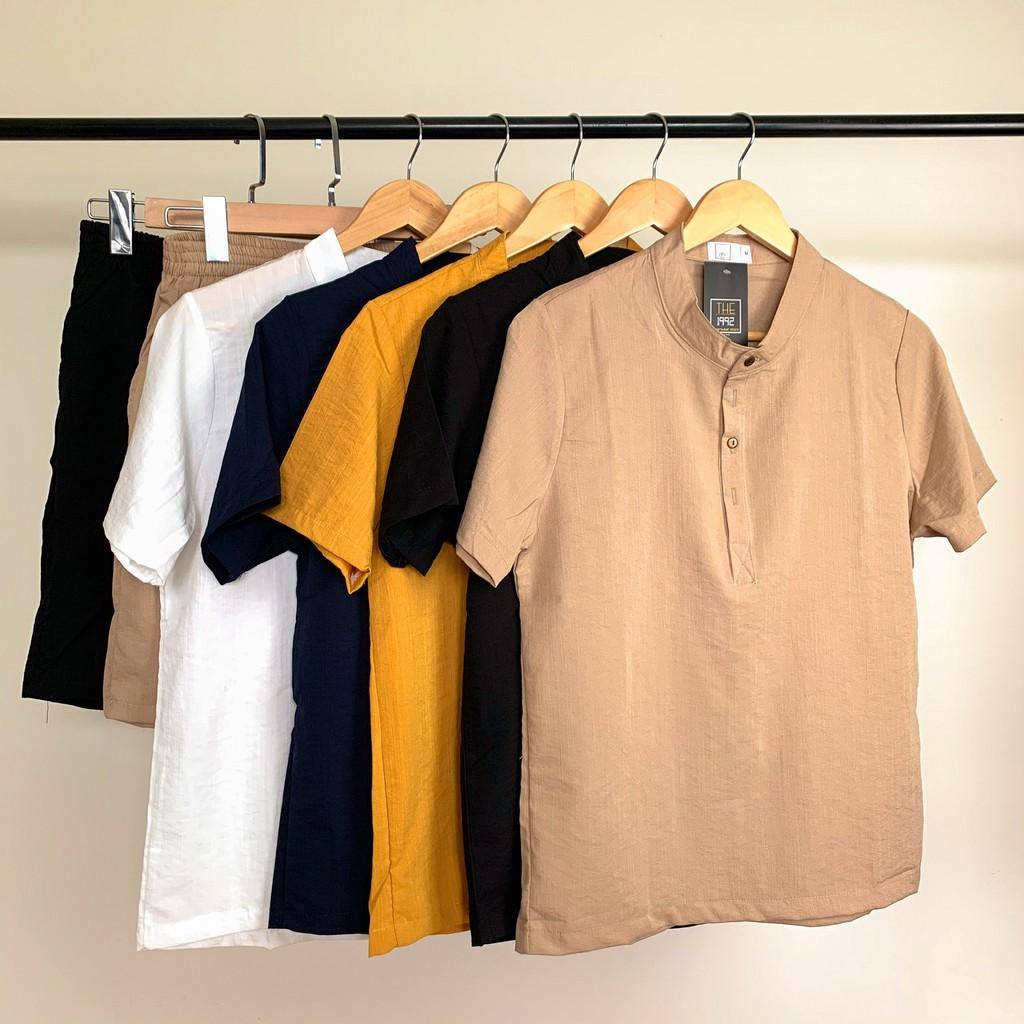 Bộ quần áo đũi nam bộ đồ nam vải đũi dày dặn LINEN THE1992 802