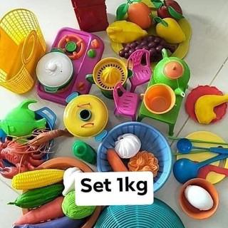 (FREE SHIP từ 50k) Bộ đồ chơi nhà bếp cân đủ món cho bé nhựa việt nam