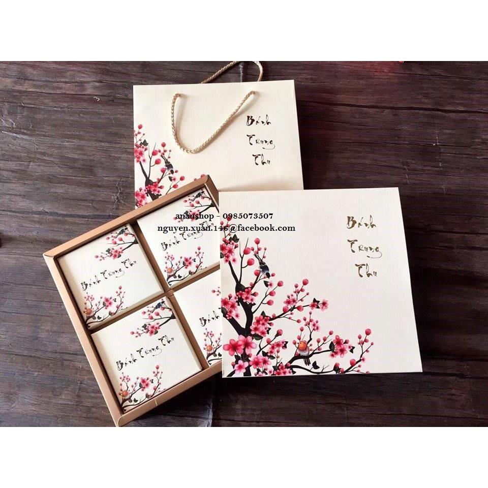 Bộ hộp giấy 4 bánh hoa đào - 2952511 , 475210994 , 322_475210994 , 27000 , Bo-hop-giay-4-banh-hoa-dao-322_475210994 , shopee.vn , Bộ hộp giấy 4 bánh hoa đào